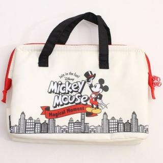 ミッキーマウス(ミッキーマウス)のミッキー 新品 がま口 ランチバッグ L 保冷バッグ 弁当(弁当用品)