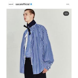 sacai - sacai 20ss レイヤードストライプシャツ サイズ1