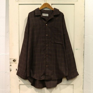 rivet & surge - グレンチェック オープンカラー BIGシャツ