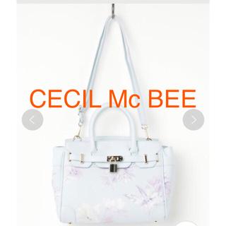 セシルマクビー(CECIL McBEE)のCECIL Mc BEEハントバックショルダーバック2way花柄 美品(ハンドバッグ)