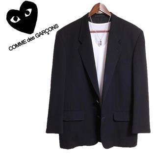 コムデギャルソン(COMME des GARCONS)のCOMME des GARCONS  テーラードジャケットウールジャケット紺色(テーラードジャケット)