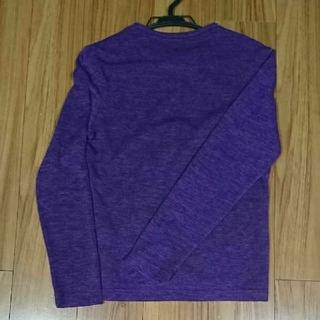 ユナイテッドアローズ(UNITED ARROWS)のNideaways カットソー 48 パープル 紫(カットソー(長袖/七分))