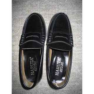 ハルタ(HARUTA)の美品★HARUTA/ハルタ ローファー 黒 25cm 3E 日本製 (ローファー/革靴)
