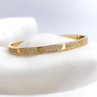 Cartier - 【仕上済】カルティエ ラブブレス SM YG 15インチ ダイヤ ブレスレット