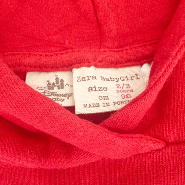 ZARA KIDS(ザラキッズ)の専用☆zara baby ミニーちゃんパーカー キッズ/ベビー/マタニティのキッズ服女の子用(90cm~)(Tシャツ/カットソー)の商品写真