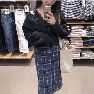 GU - タータンチェックナローミディスカート