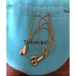 Tiffany & Co. - K18 ティファニー ティアドロップネックレス Tiffany YG 750