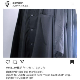 UNUSED - ESSAY for JOHN DOLMAN SLANT SHIRT シャツ