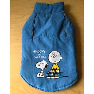 スヌーピー(SNOOPY)のスヌーピー ウェアMサイズ スウェード薄青(ペット服/アクセサリー)