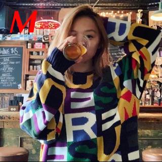 シュプリーム(Supreme)の【M】Supreme Big Letters Sweater マルチカラー(ニット/セーター)