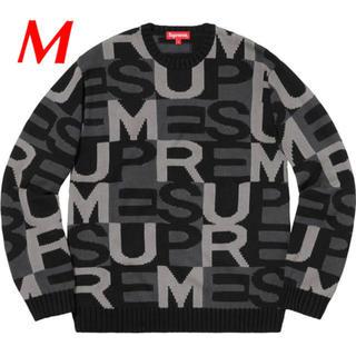 Supreme - 【M】Supreme Big Letters Sweater 黒 セーター