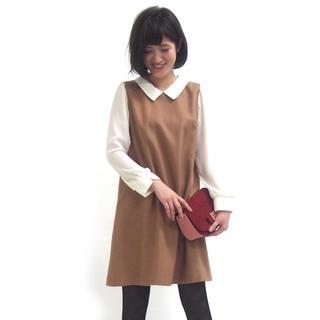 31 Sons de mode - 袖シフォン襟付きAラインワンピース