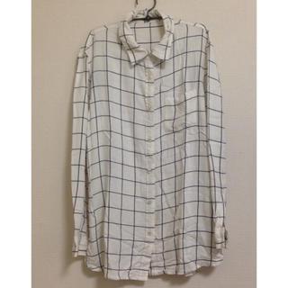 ジーユー(GU)のさわやかブロックチェックシャツ(Tシャツ(長袖/七分))