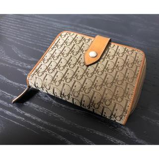 クリスチャンディオール(Christian Dior)の美品!ディオール トロッター柄 二つ折り 財布(財布)