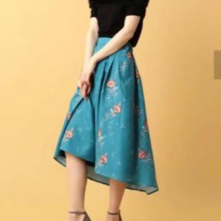 MIIA - MIIA 刺繍花柄スカート