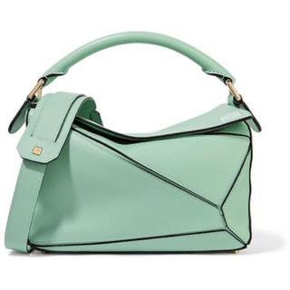 ロエベ(LOEWE)の美品 Loewe ロエベ パズルバッグ ミントグリーン ハンドバッグ スモール(ハンドバッグ)