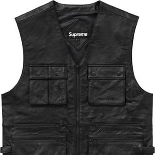 Supreme - Supreme Leather Utility Vest M black 黒