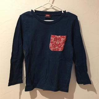 エドウィン(EDWIN)のEDWIN バンダナ柄ロングTシャツ ロンT(Tシャツ/カットソー)