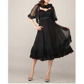 新品タグ付*S*ボレロ付ドレス*Luxe Style(ミディアムドレス)