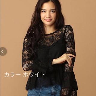 ROYAL PARTY - 新品 ROYAL PARTY  総レースフレアスリーブブラウス 定価6,490円