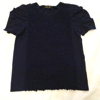 ドゥロワー(Drawer)の人気DrawerフリルTシャツネイビー (Tシャツ(半袖/袖なし))
