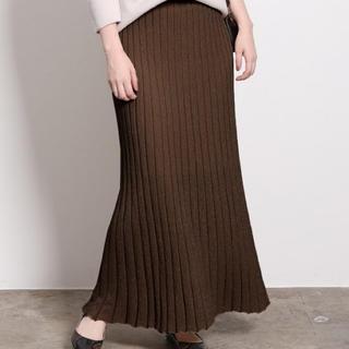 ロペ(ROPE)の【限定値下げ】ロペマドモアゼル  ラメプリーツニットスカート(ロングスカート)