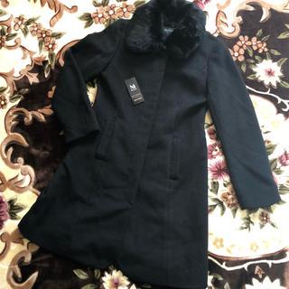 ミッシュマッシュ(MISCH MASCH)の美品 ミッシュマッシュコート 黒 レッセパッセ アプワイザー(ロングコート)