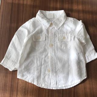 babyGAP - babyGAP 白シャツ 長袖 70