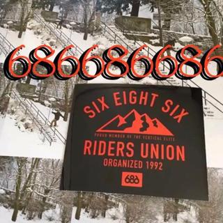 686スノーボードウエアUS限定アートシリーズRidersUnionステッカー(その他)