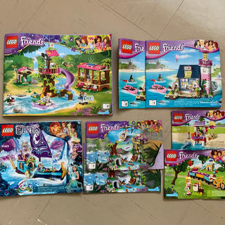 Lego - 早い者勝ち!全て発送!LEGO friends,ELVES 5セット説明書つき!