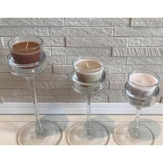 イケア(IKEA)の【IKEA】 キャンドルホルダー& グラスカップキャンドル セット(アロマ/キャンドル)