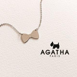 アガタ(AGATHA)のほぼ未使用|AGATHA*リボン型ネックレス(ネックレス)