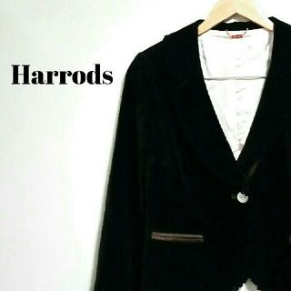 ハロッズ(Harrods)の美シルエット☆ 上質 ハロッズ テーラードジャケット レディース(テーラードジャケット)