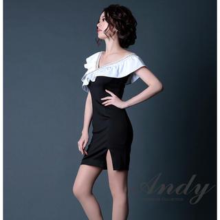アンディ(Andy)のアンディー ミニドレス 黒 ワンピース Andy ブラック ドレス キャバ(ナイトドレス)