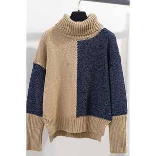 『バイカラーハイネックセーター』(ニット/セーター)