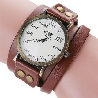 数式デザイン腕時計 二重巻 アンティーク腕時計