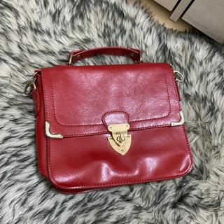 dholic - 赤 ショルダーバッグ ハンドバッグ
