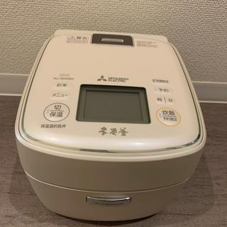 ミツビシデンキ(三菱電機)の三菱 IHジャー炊飯器(3.5合炊き) 白和三盆MITSUBISHI 本炭釜 (炊飯器)