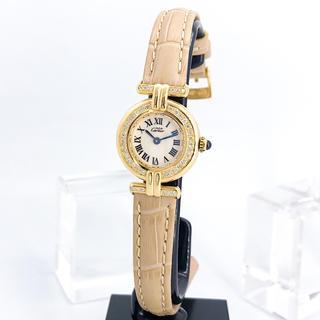 Cartier - 【仕上済/ベルト二色】カルティエ コリゼ ゴールド ダイヤ レディース 時計