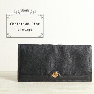 クリスチャンディオール(Christian Dior)の未使用  美品 Dior ディオール トロッター 二つ折り 長 財布 札入れ(財布)