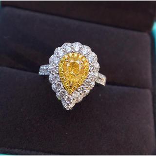 イエローダイヤモンド ダイヤモンド リング ネックレス兼用(リング(指輪))