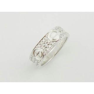 カルティエ(Cartier)のカルティエ WG ラブリング パヴェダイヤ #50 10号 ホワイトゴールド(リング(指輪))