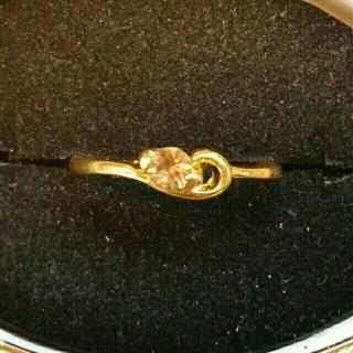 ◆28◆オレンジカラー ゴールドリング(リング(指輪))