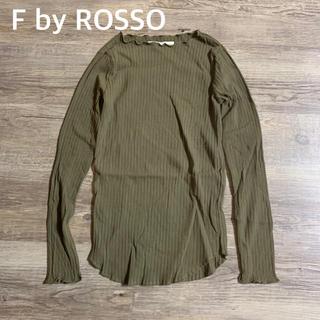 ロッソ(ROSSO)の【F by ROSSO】フリルネックプルオーバー(カットソー(長袖/七分))