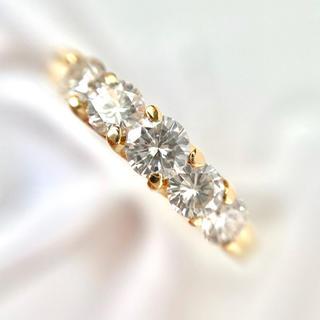 k18  モニッケンダム 0.63ct ダイヤモンド リング 指輪 14号(リング(指輪))