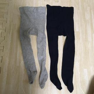 エイチアンドエム(H&M)のH&M 74/80 6-12m タイツ グレー 紺 2足セット(靴下/タイツ)