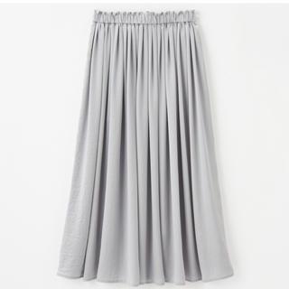 しまむら - しまむら プチプラのあや サテンギャザースカート LL