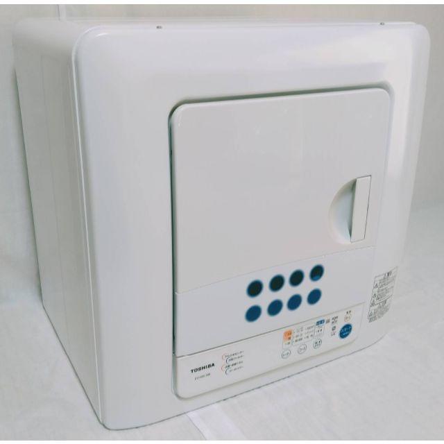 東芝(トウシバ)の【超美品】東芝 衣類乾燥機 ED-60C 乾燥容量6kg ピュアホワイト スマホ/家電/カメラの生活家電(衣類乾燥機)の商品写真