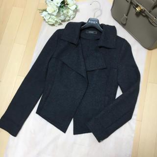 FOXEY - 【美品】FOXEY フォクシー 美シルエット 女優襟 コート ジャケット