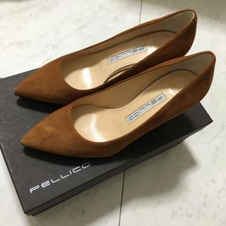 PELLICO - 新品未使用ペリーコ ANDREAブラウン6.5センチヒール裏張り済み